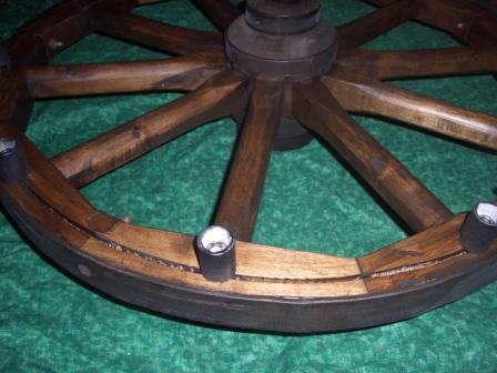 Как сделать колесо для телеги из дерева